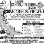 Lahore School of Fashion Design Admissions 2016