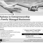 Diploma in Entrepreneurship and Family Managed Business IBA