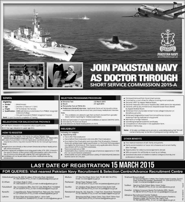 join pak navy online as doc e1425202846867 Join Pakistan Navy Job as Sailors C 2013 S
