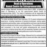 Namal College Mianwali Job opportunities