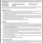 Quaid-i-Azam University Split PhD Scholarships under HEC Funded Psdp Project