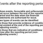Events after the Reporting Period – Financial Accounting