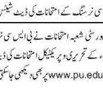 pu nursing date sheet 150x150 Punjab University B.A/BSc Date Sheet Supplementary Exams 2013
