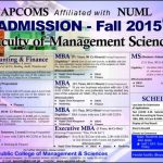 APCOMS Admission 2016 Entry Test Result Final Merit List