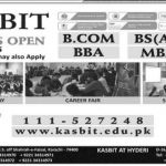 KASB Institute of Technology Karachi Admissions 2015