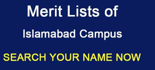 Bahria University Islamabad Merit List 2017