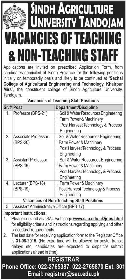 sindh-university-jobs