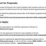 British Council Pakistan Scottish Apprenticeship Programme 2016
