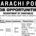 Karachi Police Constable Jobs 2016 Application NTS Test Result