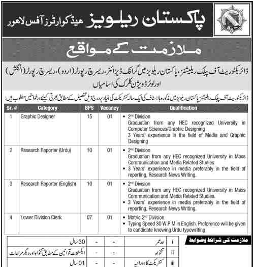 Pakistan-Railways-Jobs-in-Lahore