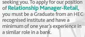 HBL Bank Jobs 2017 for Relationship Manager Retail Apply Online
