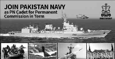 Join Pak Navy as PN Cadet 2018 for Permanent Commission Online Registration