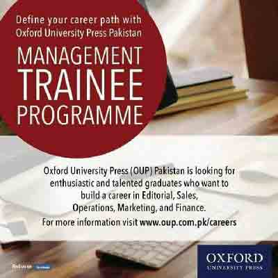 Oxford University Press Pakistan Management Trainee Program 2017