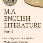 MA English syllabus of Punjab university