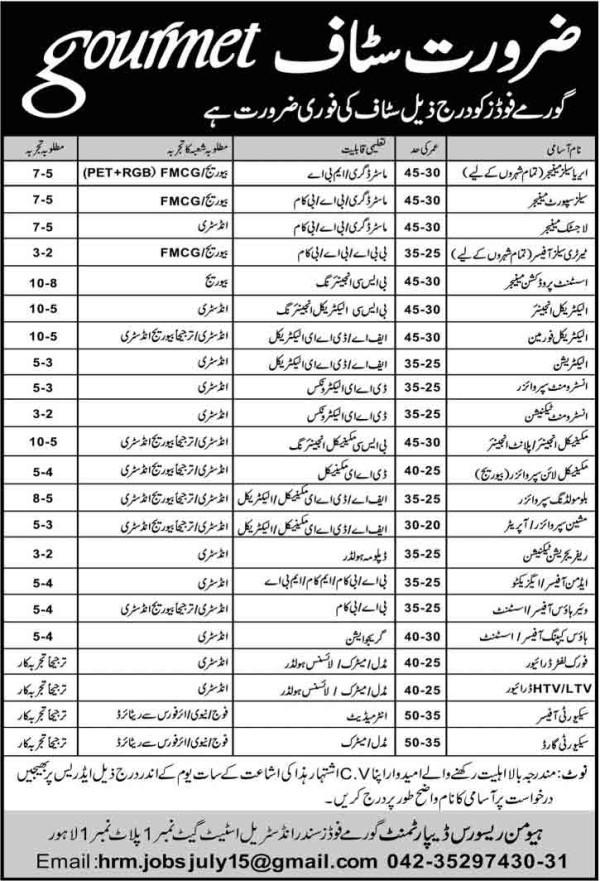 gourmet-pakistan-jobs