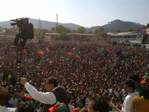 Imran Khan PTi Jalsa in Abbottabad 8Th April-2012