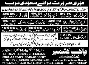 labour jobs for saudi arabia