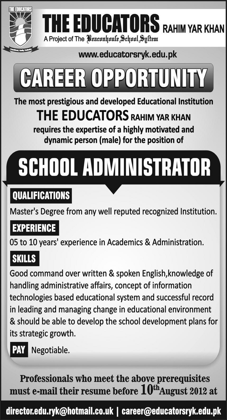 Teaching Jobs in Educators in Rahim yar Khan 2012