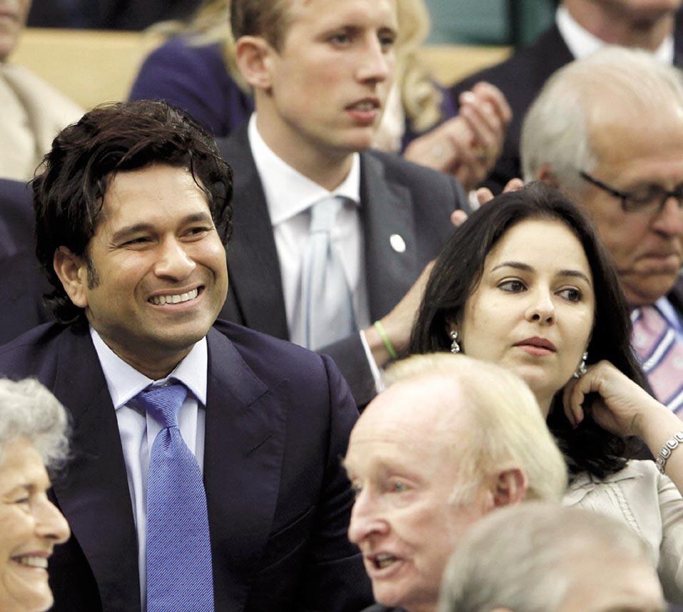 Sachin Tendulkar And his Wife Anjali Photo