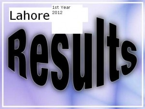 Bise Lahore Board FA FSC 1st Year Result 2012