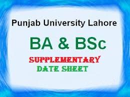Punjab-University-BA-BSc-Date-Sheet