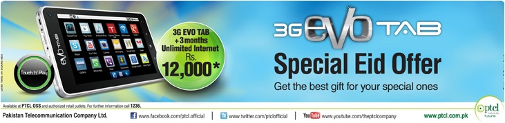 3G EVO Tab Special EID Offer Unlimited Internet