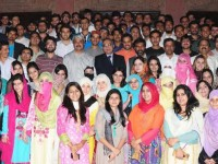 Gcu Lahore Students Group Photo with Dr. Muhammad khaliq ur rahman