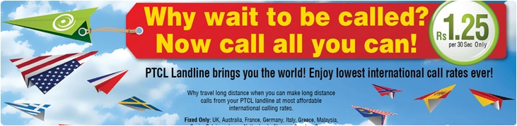 PTCL brings Lowest International Call Rates for Pakistan