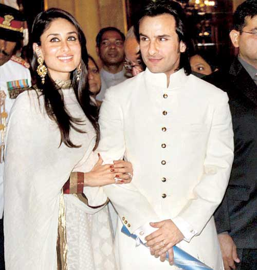 Saif-Kareena on wedding day