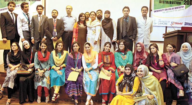 University of lahore girls Group photo