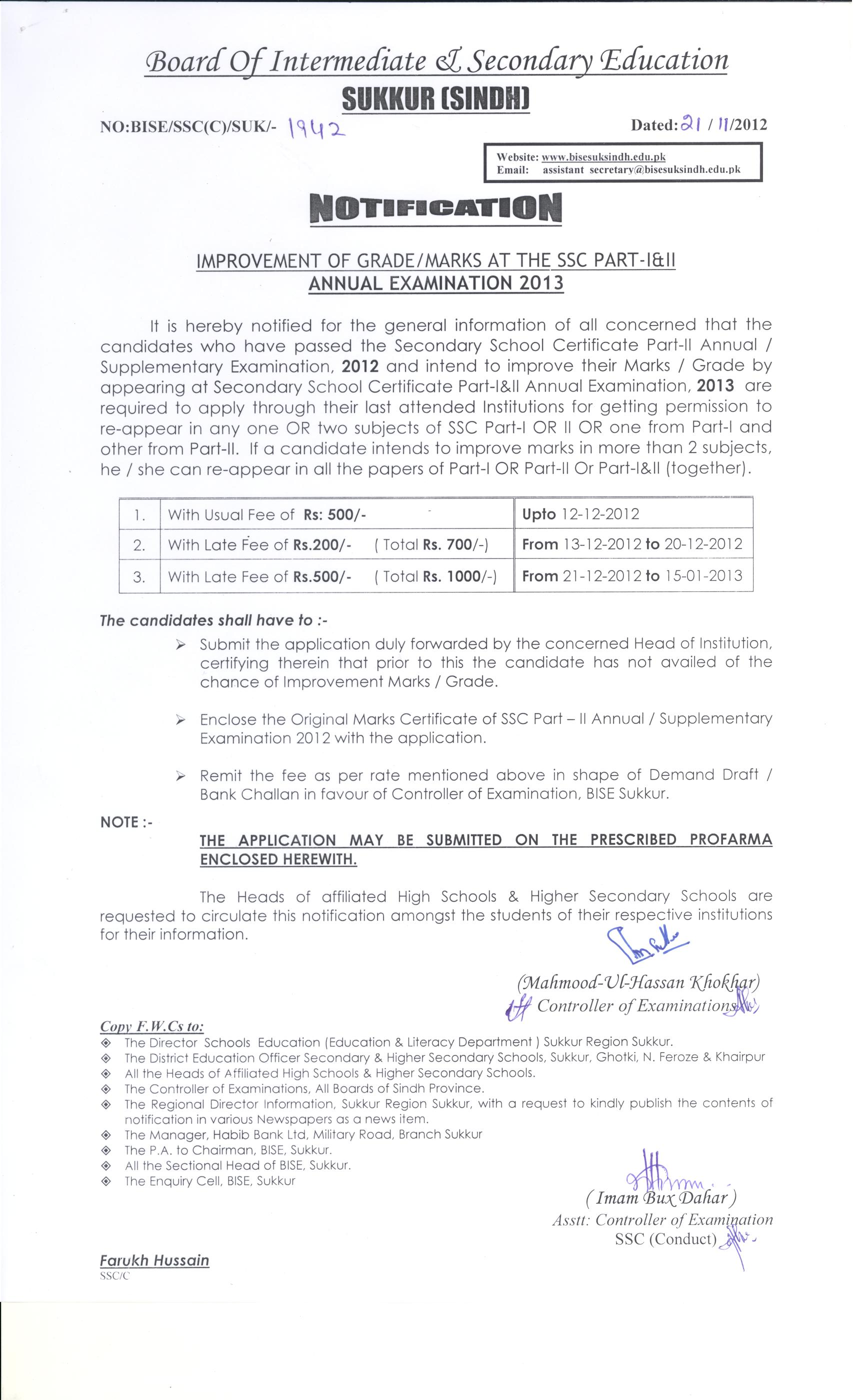 Annual Exam SSC 2013