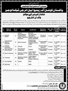 PCRET Jobs, Pakistan Council Renewable Energy Jobs