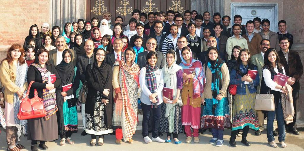 Government College University Top Position Holders Group Photo