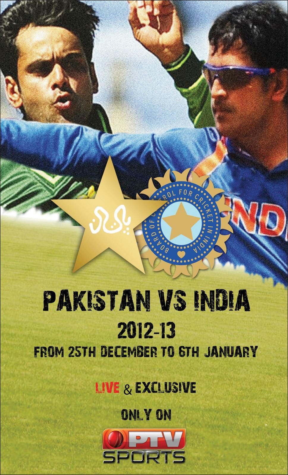 Pakistan VS India Cricket Series Schedule