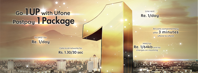 Ufone Telecom Announces Postpaid 1 Package for Prepaid Customers