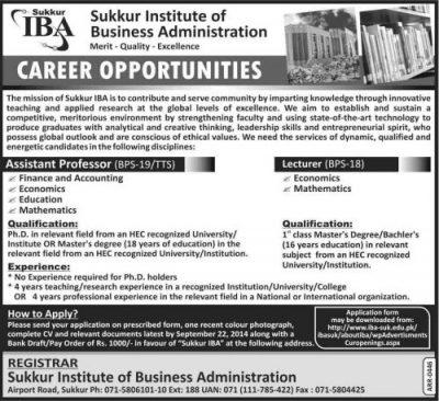 IBA-Sukkur-Jobs-2016