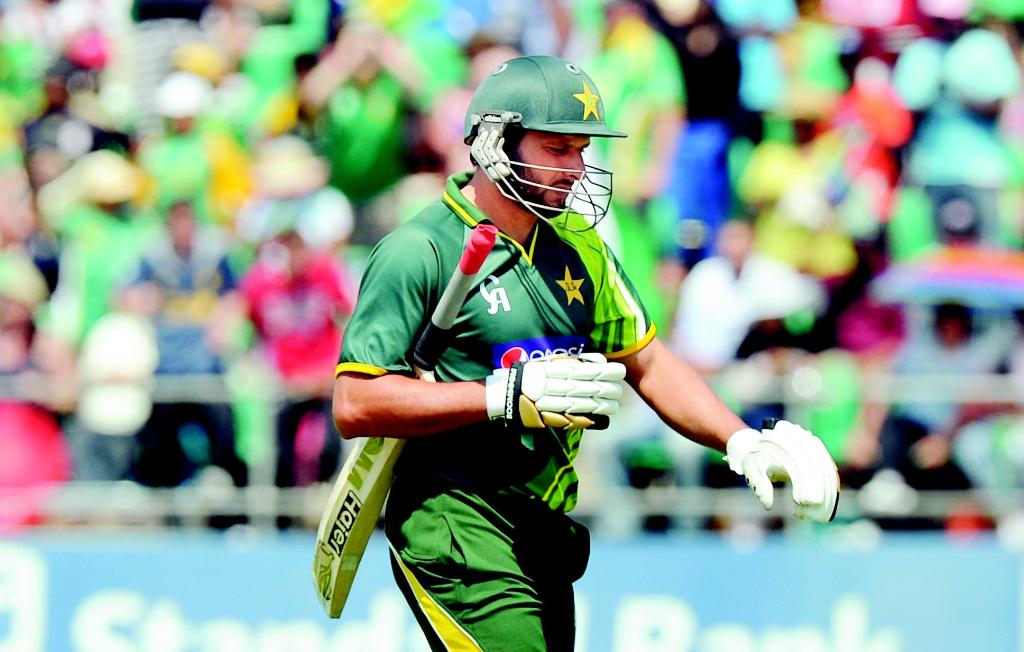 Shahid Afridi out against South Africa