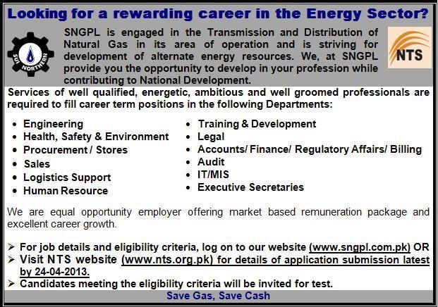 NTS JOBS 2013
