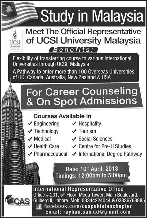 Study in Malaysian Universities for Pakistani Students