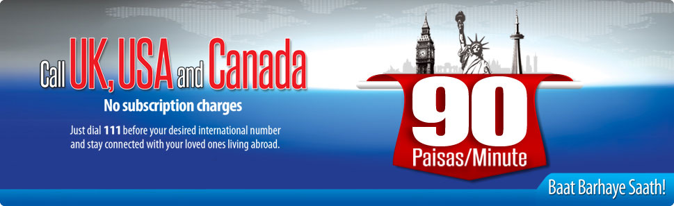 Warid Telecom Call to UK, USA, Canada 90 Paisas Per Minute