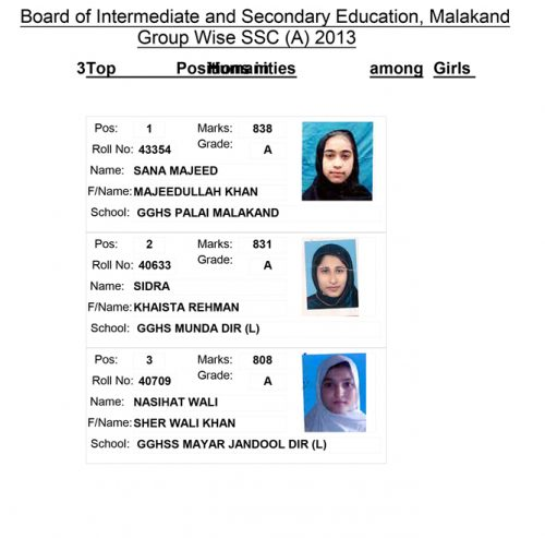 TOP-3 HUMANITIES GIRLS SSC 2013