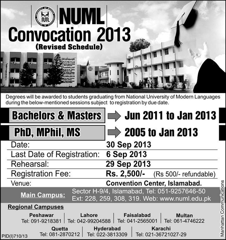 Numl Convocation Revised