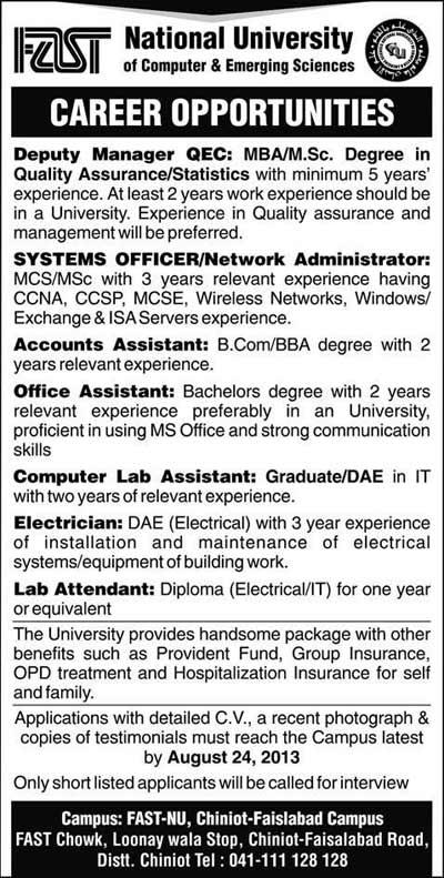 fast-university-jobs