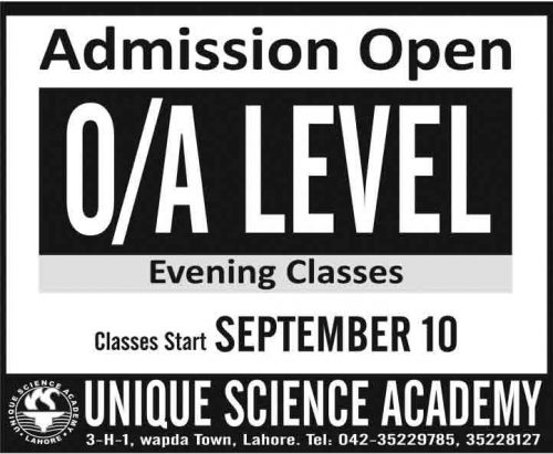 Unique College Admissions Open First Year 2018