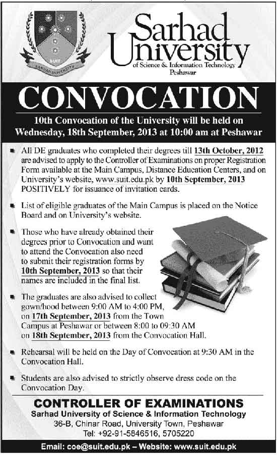 10th Convocation of Sarhad University