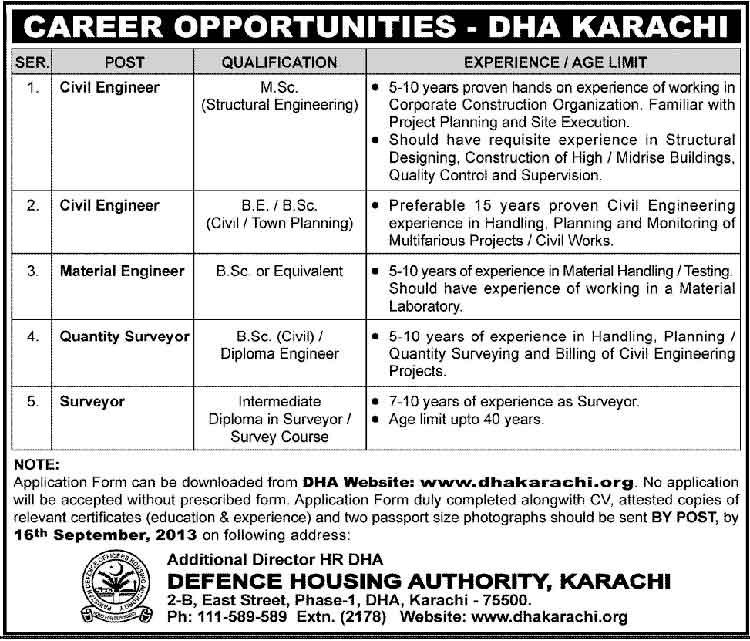 DHA-Karachi-Required-Engineers