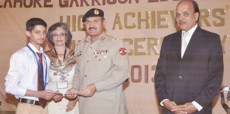 Lt. General Maqsood Ahmad in Lahore Garrison Education System