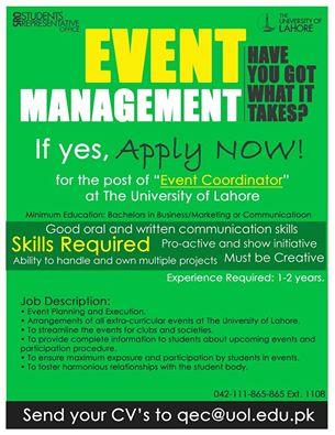 University Of Lahore Jobs 2013