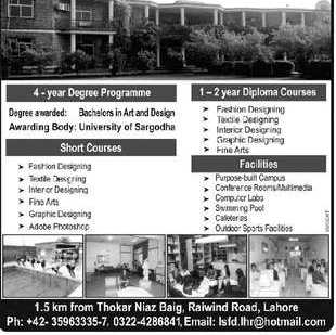 Lahore School Of Fashion Design Fee Structure 2019 School Style