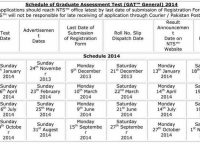 Schedule-of-Graduate-Assessment-Test-2018